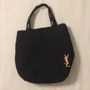 Yves Saint Laurent tote, black with gold logo